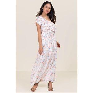 NWT Miami Francesca Pink Floral One Shoulder Dress